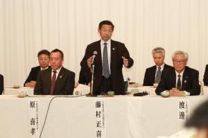 藤村正喜組合長をはじめ、常勤役員と活発に意見を交わしました